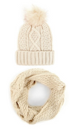 Knit Hat & Infinity Scarf Winter Set