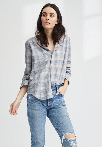 Frank & Eileen Taupe Plaid Flannel