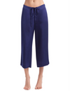 Silk Wide Leg Crop Pajama Pant