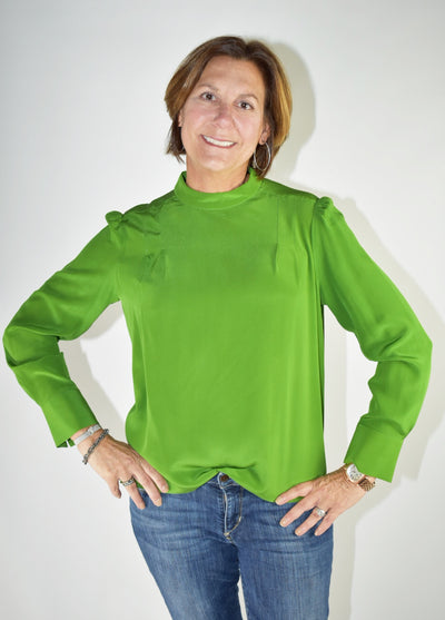 Garden Silk Green Top