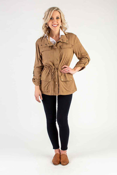 Cargo Jacket in Camel