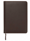 Brown Zipper Leatherette Journal