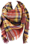 Brick Plaid Blanket Scarf