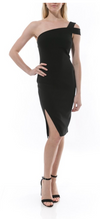 Packs Black One Shoulder Dress