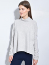 The Draped Mock Neck Sweater Top
