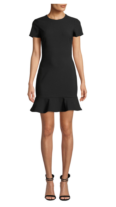 Beck Black Cap Sleeve Dress