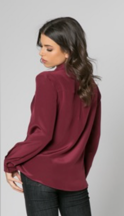 Burgundy Cross Front Top