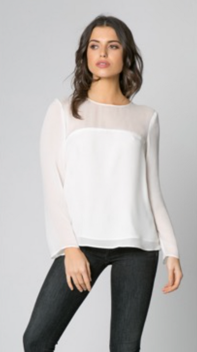 Ivory Shear Detail Top