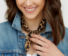 Triangle Leopard Neck Scarf