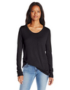 Long Sleeve Scoop Neck Front Pocket Tee
