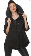 Savina Black Waterproof Rain Coat