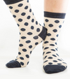 Polkadot Navy Socks