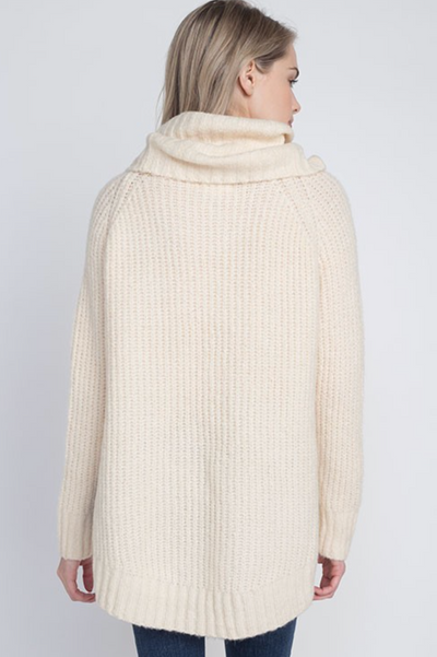 Cowl Neck Ivory Sweater