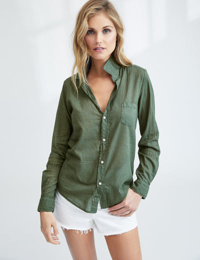 Army Green Button Up Shirt