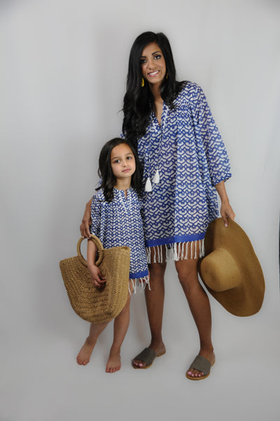 KIDS MINI CATA TUNIC WITH FRINGES