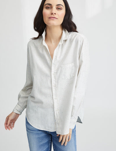 Frank & Eileen Italian Flannel Ivory Button Down