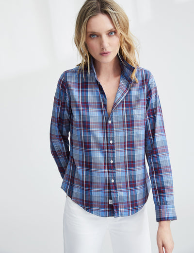 Multi - Colored Plaid Button UP