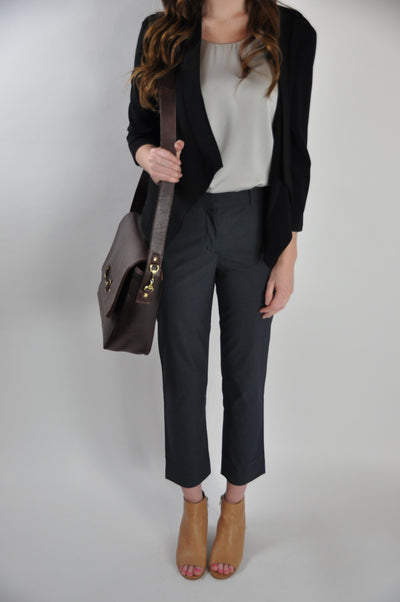 NAVY SUITING PANT