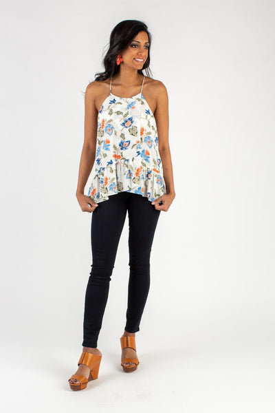PORCELAIN FLORAL TOP
