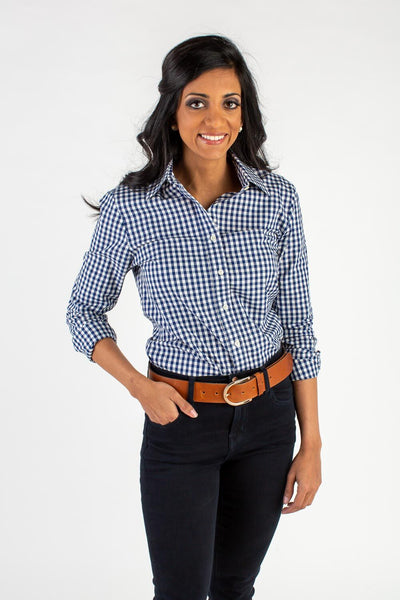 Black and White Gingham Icon Shirt