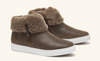 Lexi Brown Suede Shoe With Fur Trim
