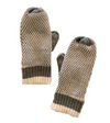 Grey & Cream Mittens With Fleece Lining