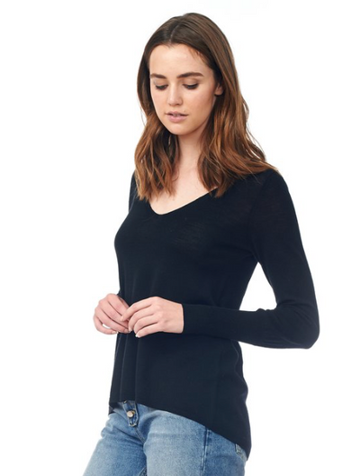 Blou Sleeve V Neck Sweater