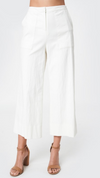 High Waist Crop White Trouser