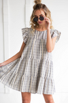 Stripe Print Woven Dress