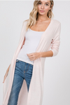 Pink Cardigan With Side Slit