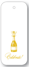Celebrate Champagne Bottle Gift Tags