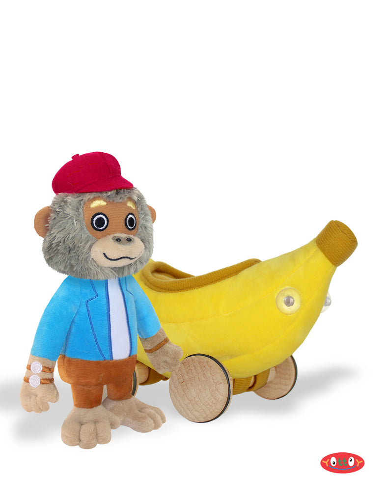 Bananas Gorilla Soft Toy with Bananamobile