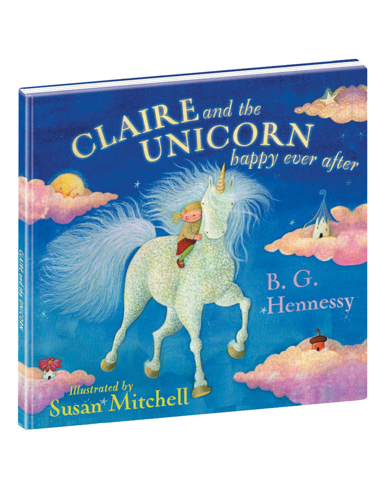 """Claire and The Unicorn, Happy Ever After"" Hardcover Book"