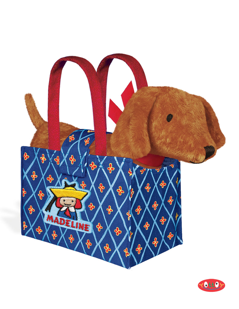 Genevieve the Dog in Madeline Tote Bag