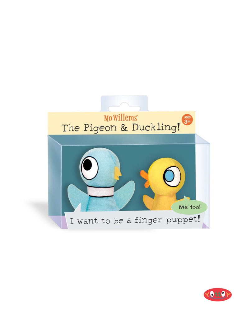 The Pigeon and Duckling Finger Puppets