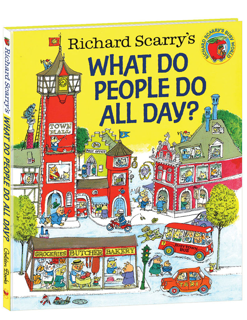 """What Do People Do All Day?"" Hardcover Book"