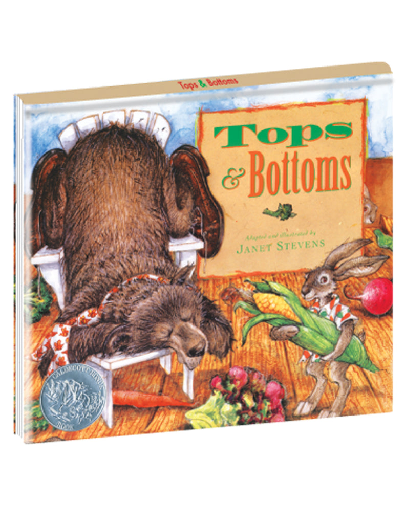"""Tops & Bottoms"" Hardcover Book"