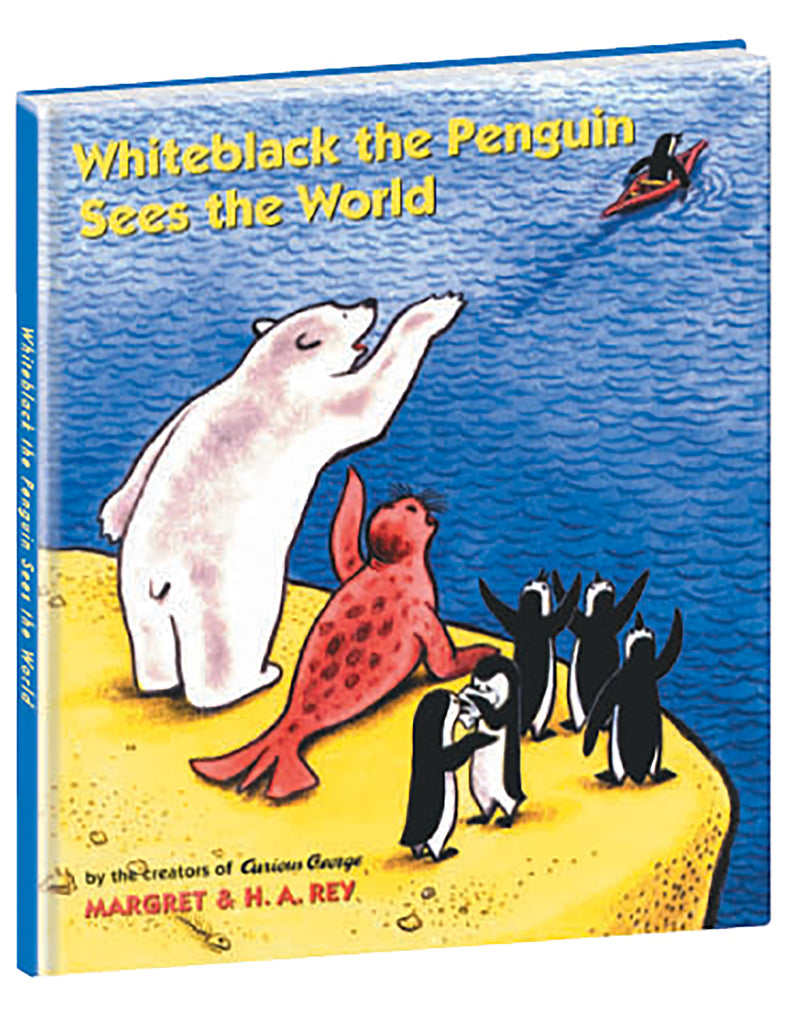 """Whiteblack the Penguin sees the World"" Hardcover Book"