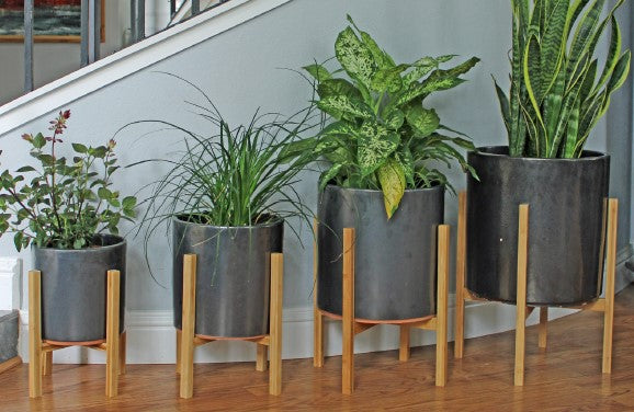 Areca Planter in Silver