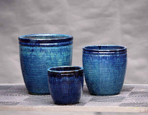 Cabana Planter in Falling Blue