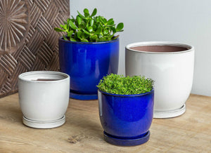 Contemporary fiberclay planter in natural finishes!