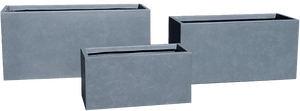 Metropolis Rectangular Planter in Concrete Light Grey