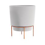 Hopson Planter with Stand in White