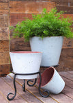 Round Handthrown Planter Earthwhite