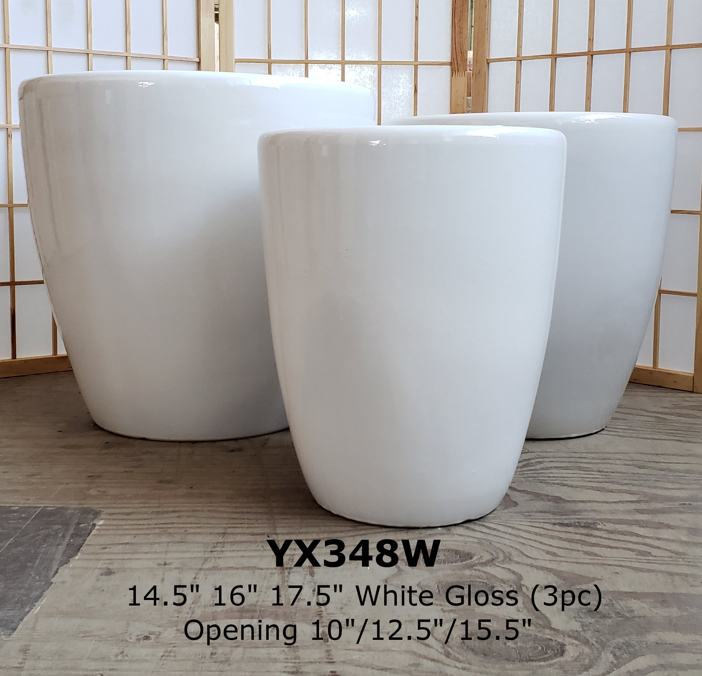 Extra Large Glossy White Pot