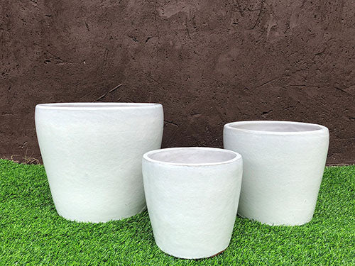Buttercup Planter in White
