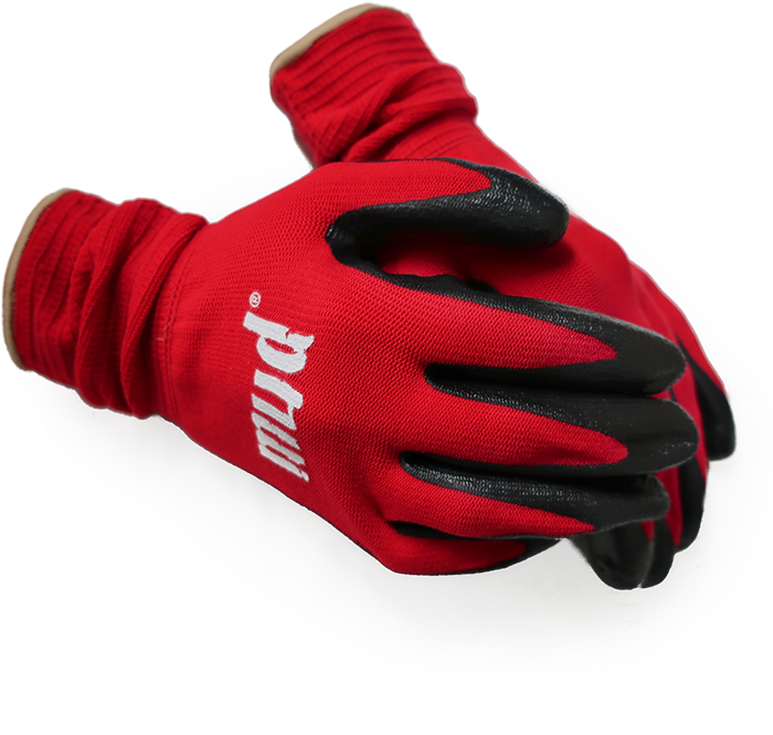 Mud Gloves in Red