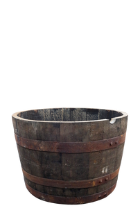Half Whiskey Barrel Planter