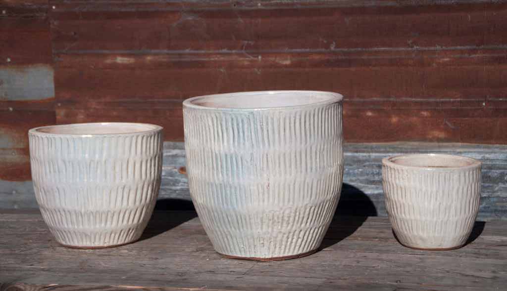 Willow Planter in Pearl White