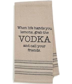 """VODKA"" Dishtowel"